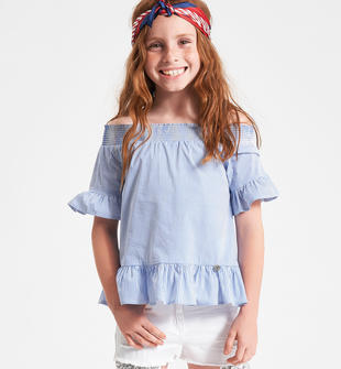 Camicia top collo elastico ido AVION-3616