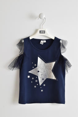 Romantica t-shirt con stella laminata ido NAVY-3854