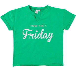 T-shirt 100% cotone con giorno della settimana ido