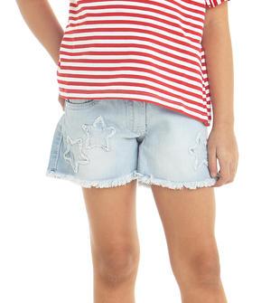 Shorts in denim con stelle ricamate ido LAVATO CHIARISSIMO-7300