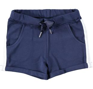 Shorts in felpa con coulisse in gros grain ido NAVY-3854