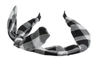 Cerchietto 100% cotone a quadri con fiocco ido NERO-0658