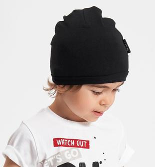 Cappello modello cuffia taglio vivo ido NERO-0658