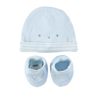 Simpatico kit cappellino e scarpine ido SKY-5818