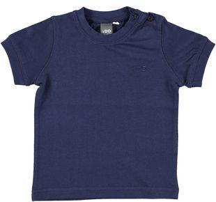 T-shirt tinta unita 100% cotone con logo ido NAVY - 3854