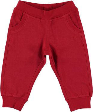 Pantalone lungo 100% cotone in felpa pesante ido ROSSO - 2253