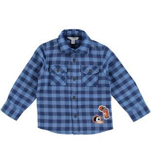 Camicia a quadri 100% cotone dodipetto BLU INDIGO-3647