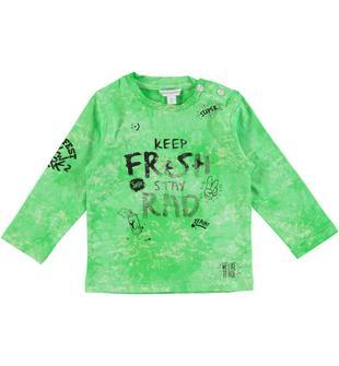 Maglietta con tecnica effetto colore spruzzato in jersey di cotone dodipetto ROYAL-3735