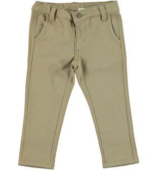 Pantalone slim fit in cotone per bambino dodipetto DARK BEIGE-0475