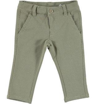 Pantalone slim fit fantasia jacquard dodipetto BEIGE-MARRONE-6R91