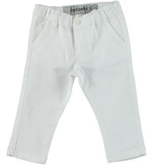Pantalone in twill stretch di cotone per bambino dodipetto BIANCO-0113