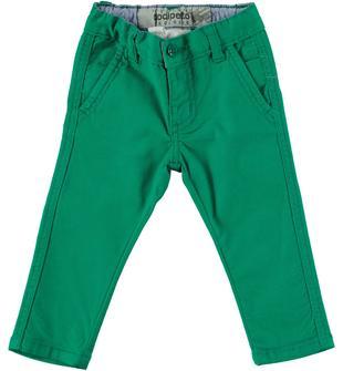 Pantalone in canvas stretch di cotone dodipetto VERDE-5037