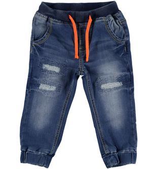 Pantalone in felpa denim effetto delavato dodipetto STONE WASHED-7450
