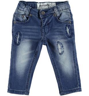 Pantalone in felpa denim con scalfitture dodipetto STONE WASHED-7450