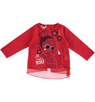 Maxi maglietta in jersey 100% cotone dodipetto ROSSO-2243