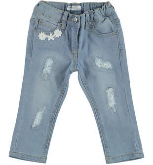 Pantalone in felpa denim effetto delavato dodipetto BLU CHIARO LAVATO-7310