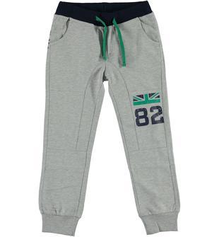 Pantalone in felpa leggera di cotone non garzata dodipetto GRIGIO MELANGE-8992