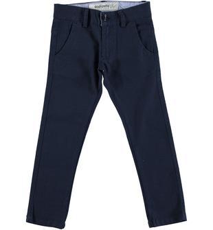Pantalone in canvas stretch di cotone modello chinos slim fit dodipetto NAVY-3856