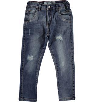 Jeans modello cavallo calato delavato dodipetto STONE WASHED CHIARO-7400
