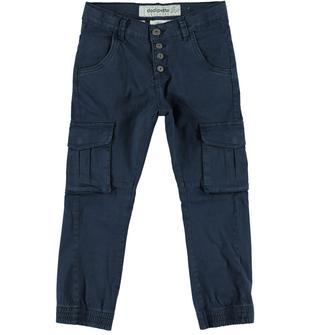 Pantalone modello cargo in twill stretch di cotone dodipetto NAVY-3856