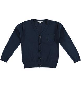 Cardigan in tricot 100% cotone per bambino dodipetto BLU-BLU-8028