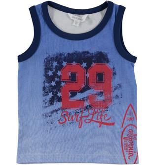 Canotta in jersey 100% cotone con stampa frontale dodipetto BIANCO-AVION-8334