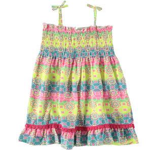 Vivace vestitino colorato in jersey stretch di cotone dodipetto BIANCO-MULTICOLOR-6U32