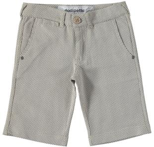 Pantalone in felpa leggera non garzata con motivo jacquard dodipetto BEIGE-BLU-6T30