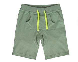 Pantalone corto in jersey 100% cotone modello cavallo calato dodipetto GRIGIO-VERDE-8022
