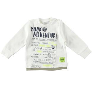 Maglietta girocollo 100% cotone stampa avventura dodipetto PANNA-0112