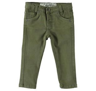 Pantalone in twill di cotone stretch dodipetto VERDE MILITARE-5554