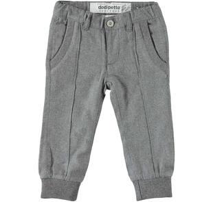 Particolare pantalone con polsino alla caviglia dodipetto GRIGIO MELANGE-8993