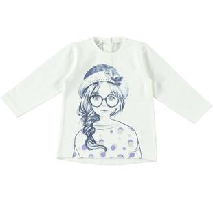 Maxi t-shirt Dodipetto con strass dodipetto PANNA-0112