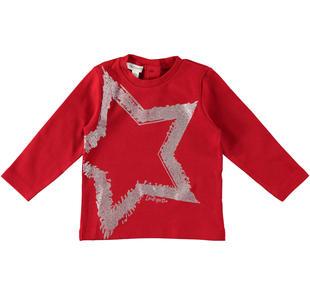 Maglietta con stelle glitter dodipetto ROSSO-2253