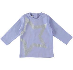 Maglietta con stelle glitter dodipetto LAVANDA-3531