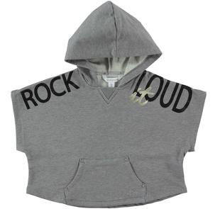 Maxi felpa animo rock per bambina dodipetto GRIGIO MELANGE-8967