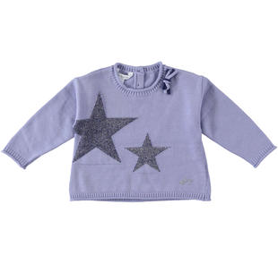 Maglioncino corto con stelle dodipetto LAVANDA-3531