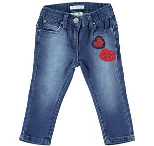 Pantalone denim con sticker e paillettes dodipetto STONE WASHED-7450