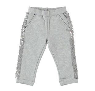 Pantalone con bande di paillettes dodipetto GRIGIO MELANGE-8992