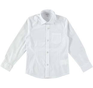Camicia in popeline stretch dodipetto BIANCO-0113