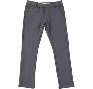 Elegante pantalone in felpa dodipetto GRIGIO SCURO-0566