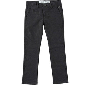 Pantalone in twill slim fit dodipetto GRIGIO MELANGE SCURO-8994