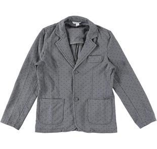 Elegante giacca con microfantasia dodipetto GRIGIO-BLU-6J61