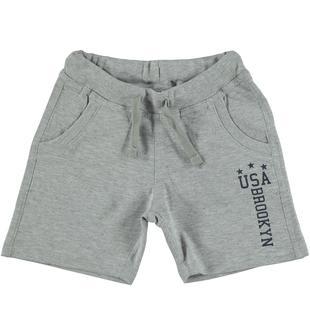 Comodo pantaloncino in cotone con stampa dodipettobasic GRIGIO MELANGE-8992