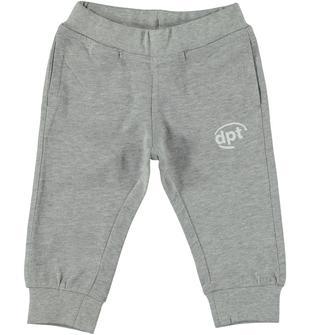 Morbido pantalone in jersey di cotone con logo dodipettobasic GRIGIO MELANGE-8992