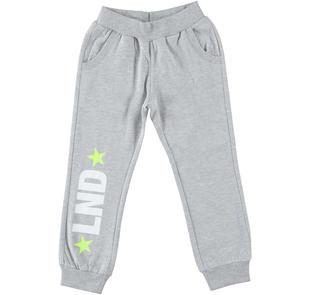 Pantalone in felpa garzata con stampe dodipettobasic GRIGIO MELANGE-8992