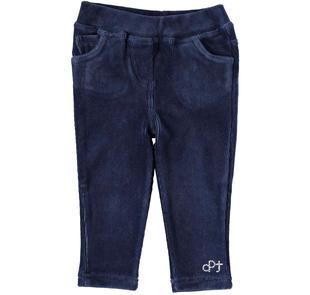 Pantalone in ciniglia con tasche dodipettobasic NAVY-3854