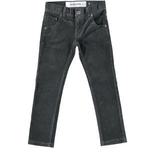 Pantalone in velluto con tasche dodipettobasic GRIGIO SCURO-0566