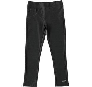 Jeggings in comodo jersey stretch dodipettobasic NERO-0658