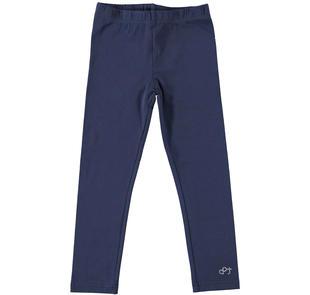 Leggings lungo tinta unita in jersey stretch dodipettobasic NAVY-3854
